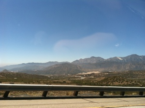 I was flown out to LA area for a job interview. The drive through the mountain pass to get there was phenomenal!