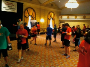 During my first week we had our annual national 9Round convention downtown at the Westin Poinsett. Yeah, we were running around the Gold Room in boxing gloves. Be jealous.