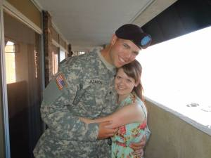 Nate and Jeanie; Army